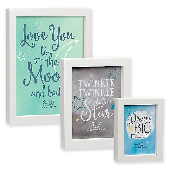 Prinz Soho White Wood Picture Frame Buybuy Baby