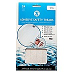 7.5-Inch White 24-Pack Applique Bath Tread Strips