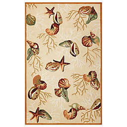 KAS Sonesta Coral Reef Indoor Rug in Beige