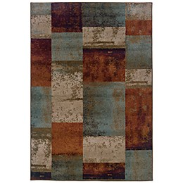 Oriental Weavers Adrienne Blocks Rug in Terracotta
