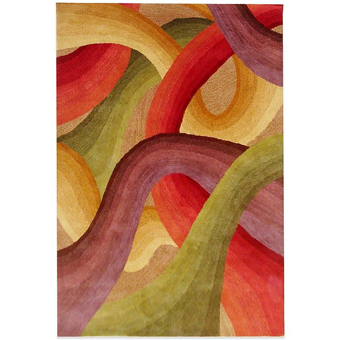 Alternate image 1 for Rizzy Home Colours 8-Foot x 10-Foot Rug in Red