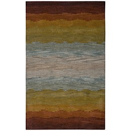 Rizzy Home Colours Rug in Rust