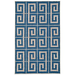 Rizzy Home Vicky Payne Collection Greek Key Rug in Blue