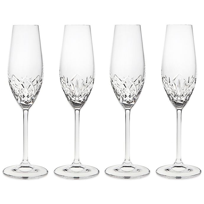 Alternate image 1 for Godinger Dublin Reserve Champagne Flutes (Set of 4)
