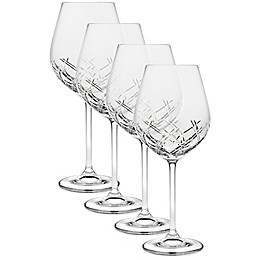 Top Shelf Bevel Crystal Wine Glasses (Set of 4)