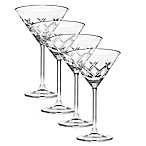 Top Shelf Bevel Crystal Martini Glasses (Set of 4)