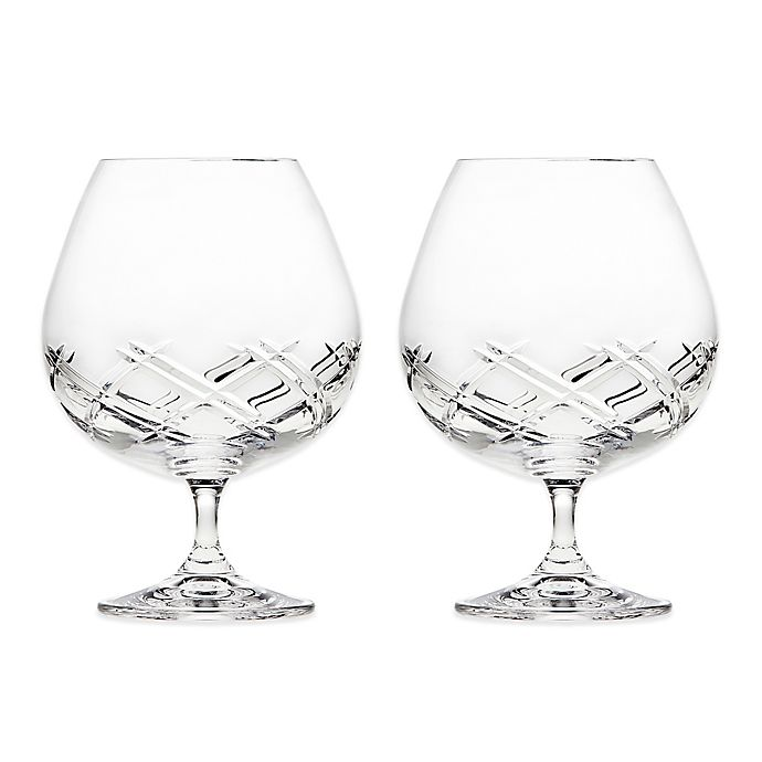 Alternate image 1 for Top Shelf Bevel Crystal Brandy Glasses (Set of 2)
