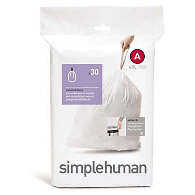 simplehuman® Code A 30-Pack 4.5-Liter Custom Fit Liners