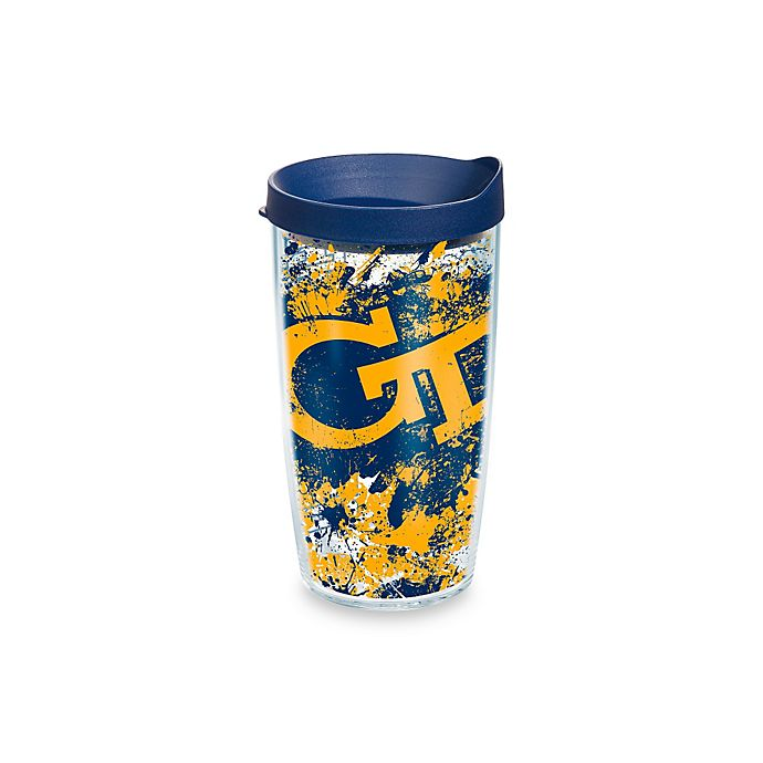 Alternate image 1 for Tervis® Georgia Tech 16-oz. Splatter Wrap Tumbler with Lid