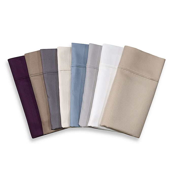 Alternate image 1 for Eucalyptus Origins™ Tencel® Lyocell 500-Thread-Count Stripe Sheet Set