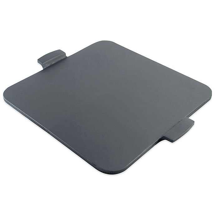 Alternate image 1 for Pizzacraft™ 14.5-Inch Square Glazed Pizza Stone with Handles