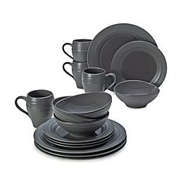 Mikasa® Swirl Graphite 16-Piece Dinnerware Set