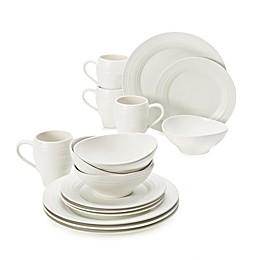 Mikasa® Swirl White 16-Piece Dinnerware Set