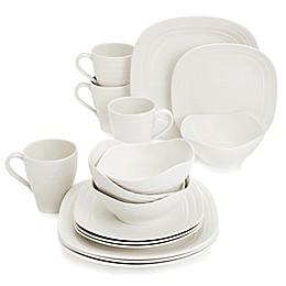 Mikasa® Swirl Square White 16-Piece Dinnerware Set