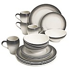 Mikasa® Swirl Ombre 16-Piece Dinnerware Set in Graphite