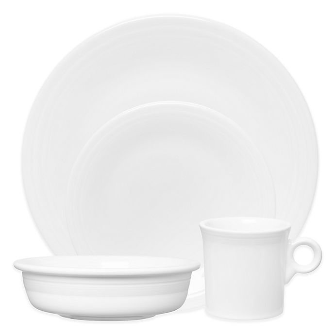 Alternate image 1 for Fiesta® 4-Piece Place Setting in White