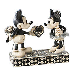 Enesco Disney® Traditions Black and White Mickey and Minnie Resin Figurine
