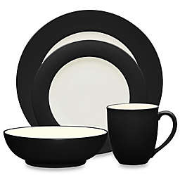 Noritake® Colorwave Rim 4-Piece Place Setting in Graphite