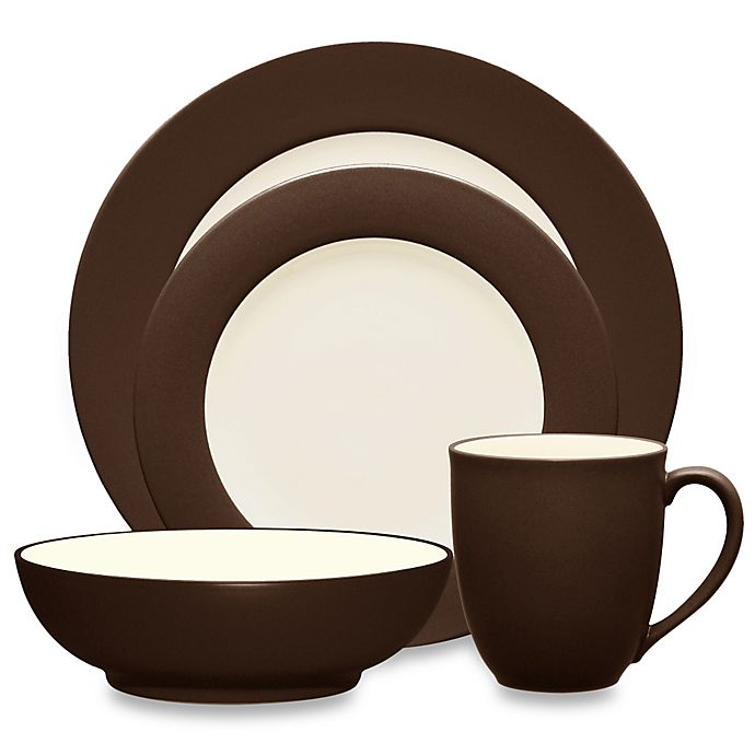 Alternate image 1 for Noritake® Colorwave Rim Dinnerware Collection in Chocolate