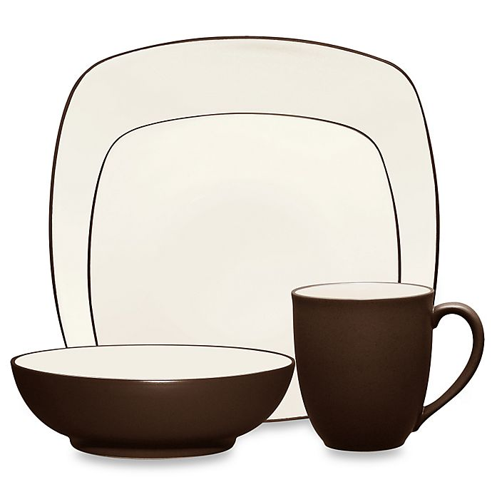 Alternate image 1 for Noritake® Colorwave Square 4-Piece Place Setting in Chocolate