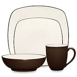 Noritake® Colorwave Square 4-Piece Place Setting in Chocolate