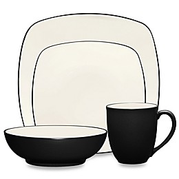 Noritake® Colorwave Square 4-Piece Place Setting in Graphite