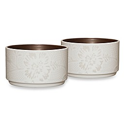 Noritake® Colorwave Bloom Stacking Bowls in Chocolate (Set of 2)