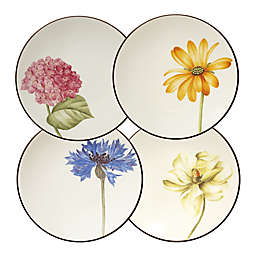 Noritake® Colorwave  Floral Appetizer Plates in Chocolate (Set of 4)