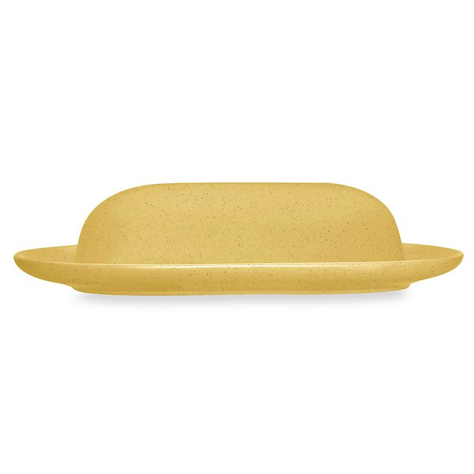 Alternate image 1 for Noritake® Colorwave Covered Butter Dish in Mustard