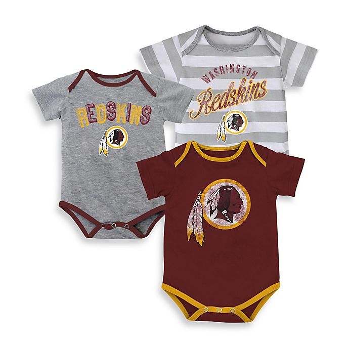 bfe31c16c NFL 3-Pack Washington Redskins Bodysuit Set