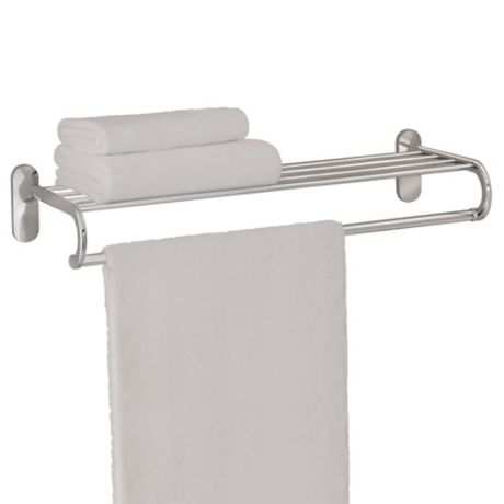 Taymor 174 24 Inch European Towel Shelf In Chrome Bed Bath