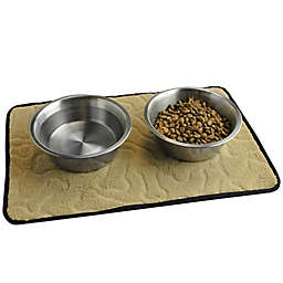 Bone Dry 18-Inch x 12-Inch Bone Embossed Pet Mat in Taupe