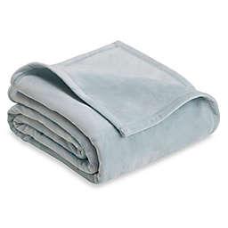 Vellux Plush Twin Blanket in Grey Mist