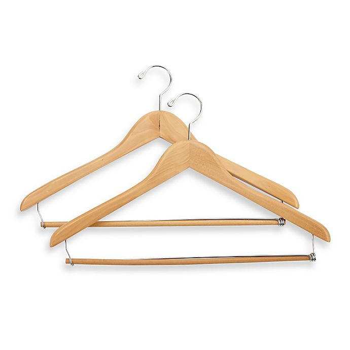 E Z Do Deluxe 2 Pack Suit Hangers With Locking Trouser Bar Bed Bath And Beyond Canada