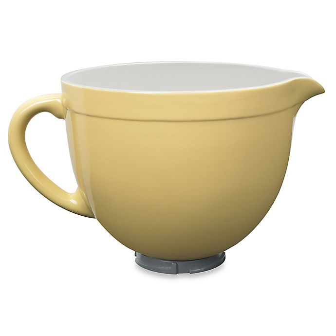 Alternate image 1 for KitchenAid® Ceramic Bowl for Tilt-Head Stand Mixers in Majestic Yellow