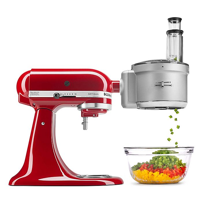 Kitchenaid Food Processor With Commercial Style Dicing Kit Stand Mixer Attachment