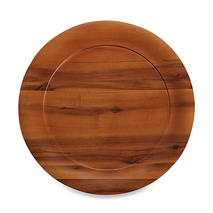 Alternate image 1 for B. Smith® 13.3-Inch Wooden Charger