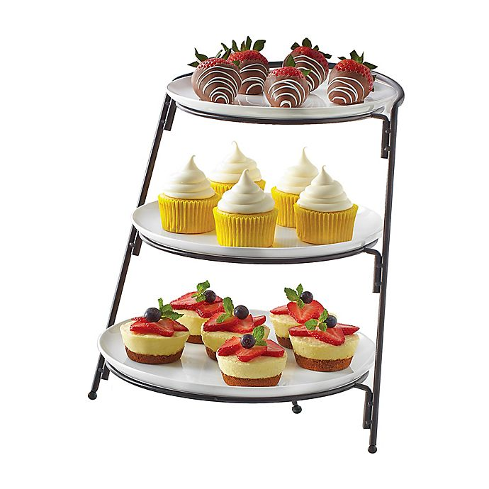 Alternate image 1 for B. Smith® 3-Tier Server with Graduated Size Plates