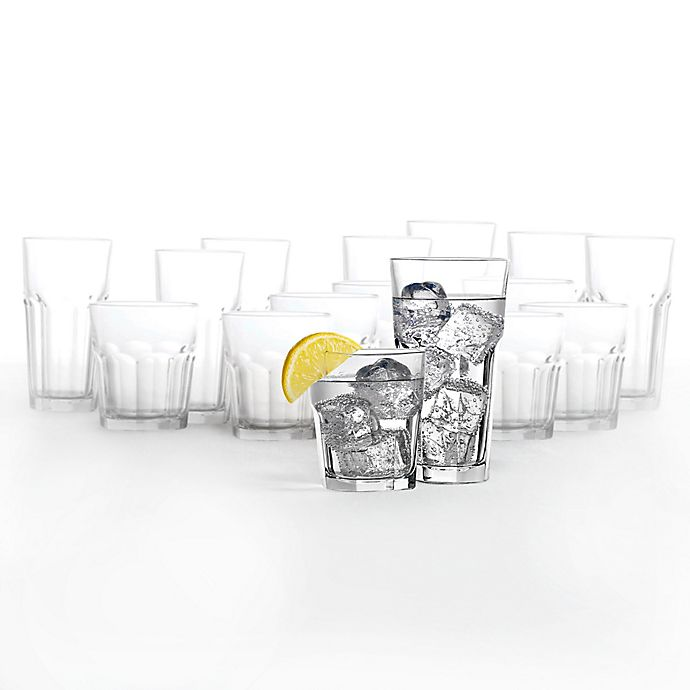 Alternate image 1 for Dailyware™ Gibraltar16-Piece Drinkware Set