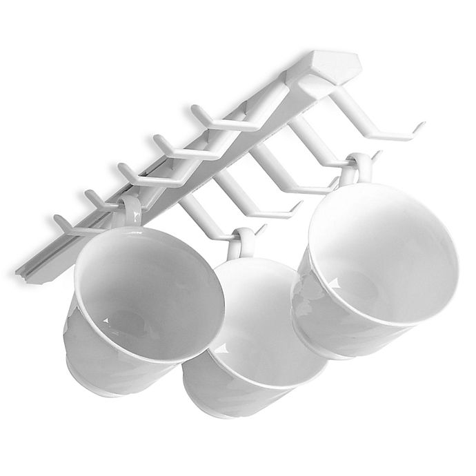 Alternate image 1 for Spectrum™ Sliding Cup Rack in White