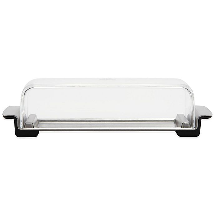 Alternate image 1 for OXO Good Grips® 2-Piece Stainless Steel Butter Dish