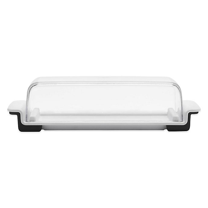 Alternate image 1 for OXO Good Grips® 2-Piece Plastic Butter Dish in White