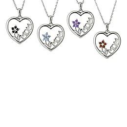 Sterling Silver Gemstone Flower \