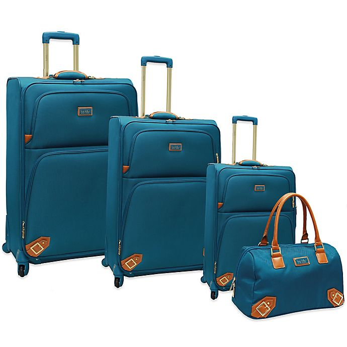 7a8ce34bb Nicole Miller NYParis Luggage Collection in Turquoise | Bed ...