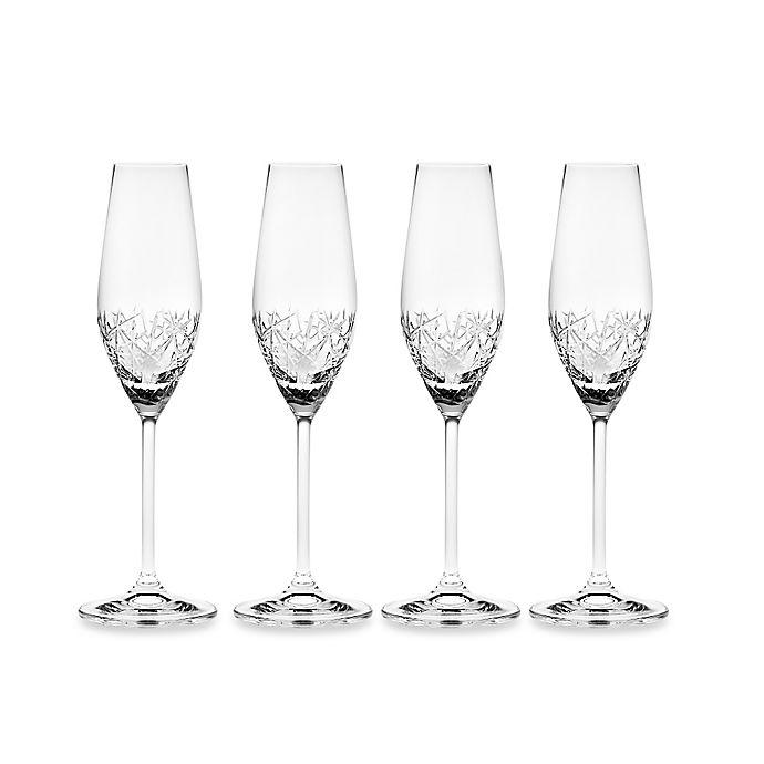 Alternate image 1 for Top Shelf Graffiti Champagne Flutes (Set of 4)