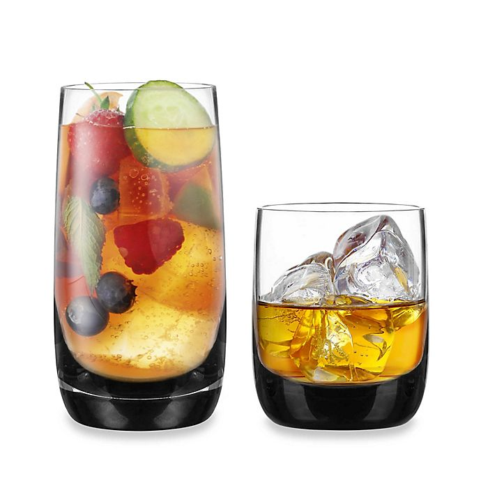 Alternate image 1 for Ebony Barware Collection in Clear/Black
