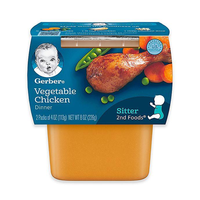 Alternate image 1 for Gerber® 2nd Foods® 3.5 oz. Vegetable Chicken (2-Pack)