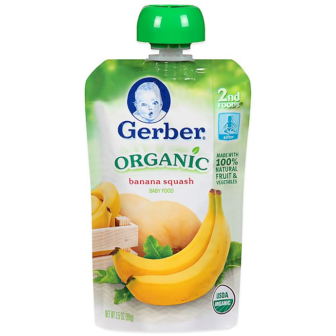 Alternate image 1 for Gerber® 2nd Foods® Organic Banana & Squash Puree Pouch 3.5 oz.