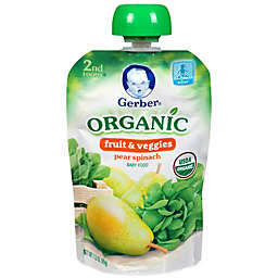 Gerber® 2nd Foods® Organic Pear & Spinach Puree Pouch 3.5 oz.