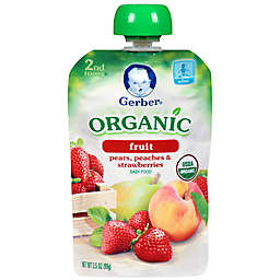 Gerber® 2nd Foods® Organic Pear, Peach & Strawberry Puree Pouch 3.5 oz.